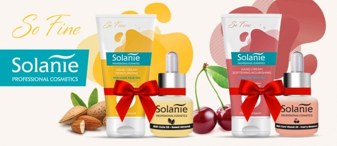 Hand cream and skin care oil in gift sets for Christmas